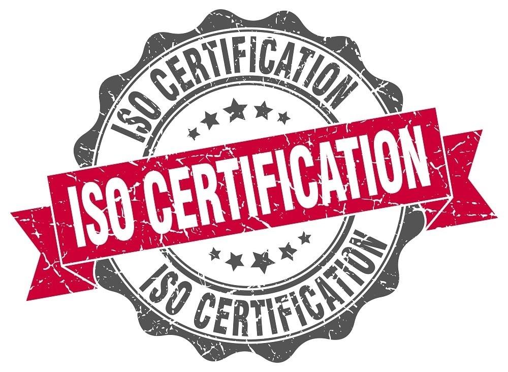 Razítko ISO certifikace